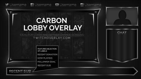 metallic lobby overlay - Twitch Overlay