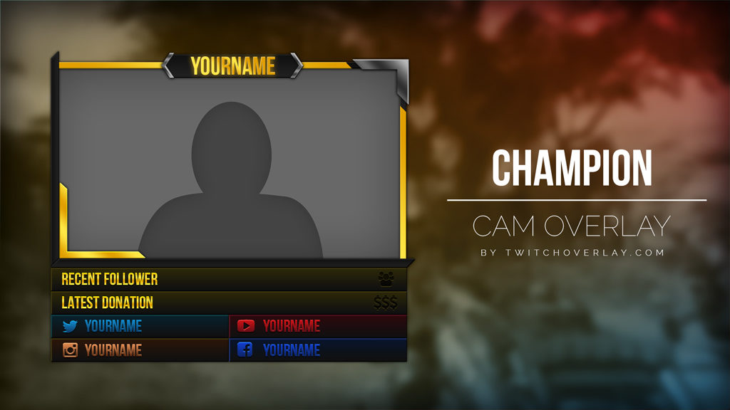 Champion – Gold – eSports Cam Overlay