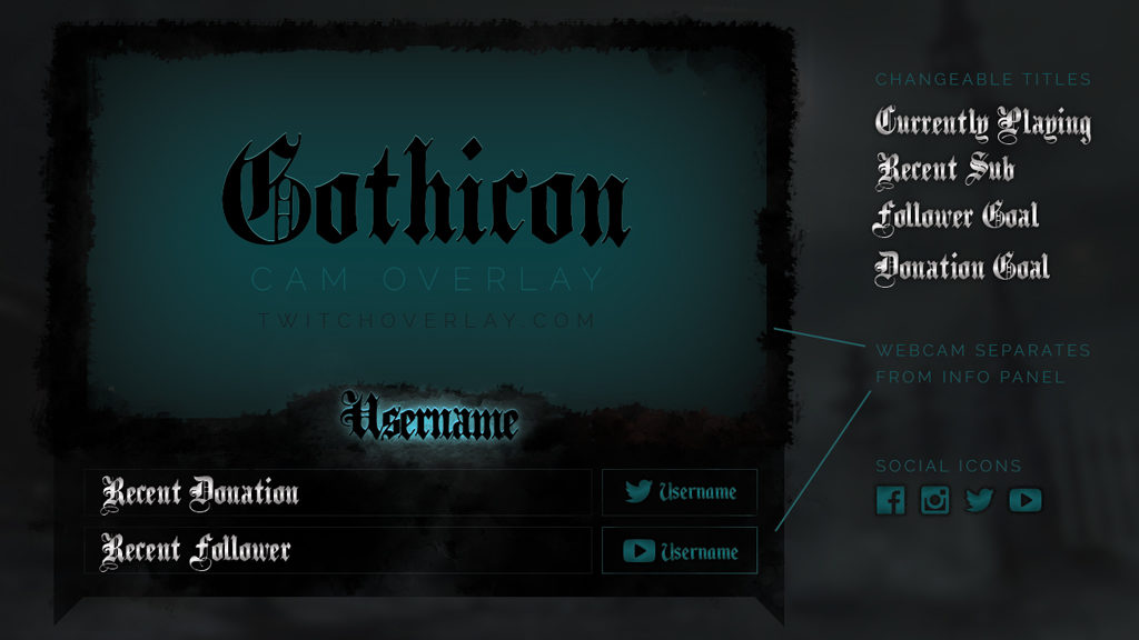 gothic webcam overlay