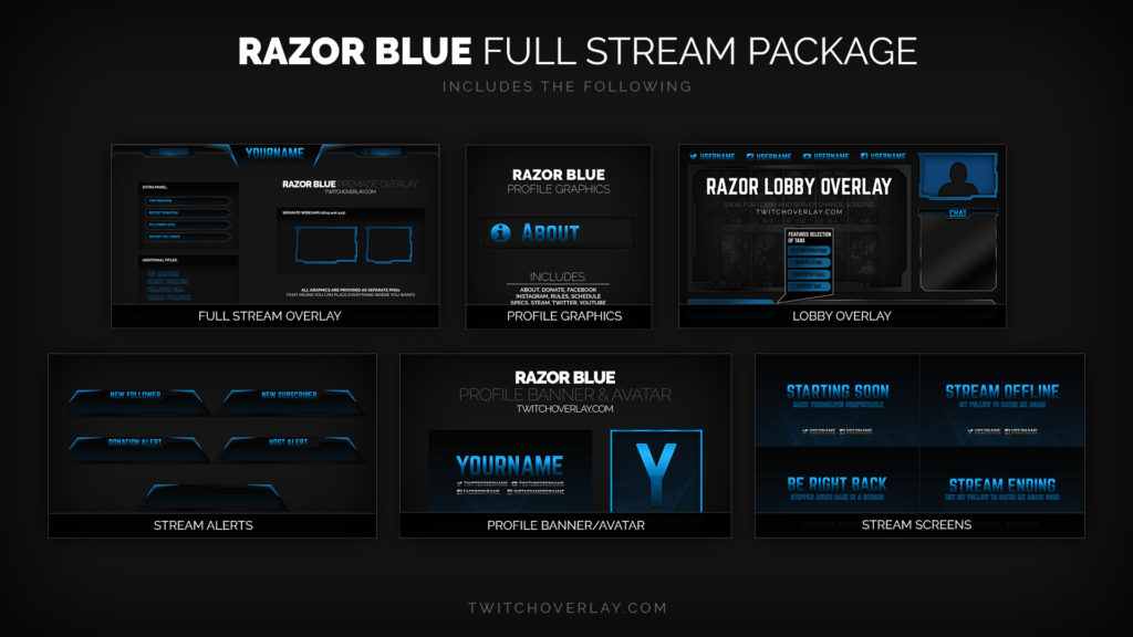 Razor Blue – Blue Stream Package