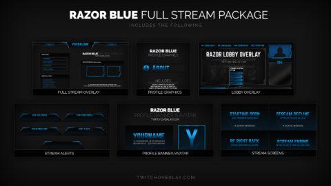 Razor Blue – Free Blue Twitch Alerts