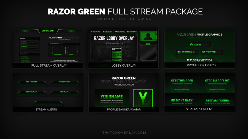 Razor Green - Full Stream Package