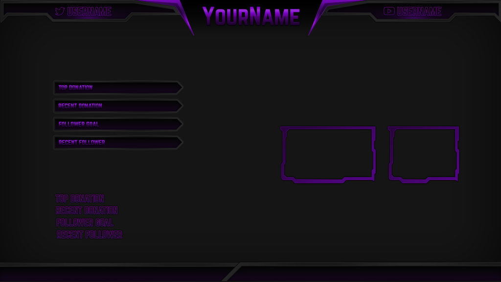 Razor Purple – Purple eSports Stream Overlay