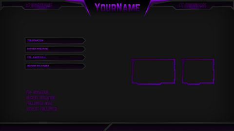 purple esports stream overlay - Twitch Overlay