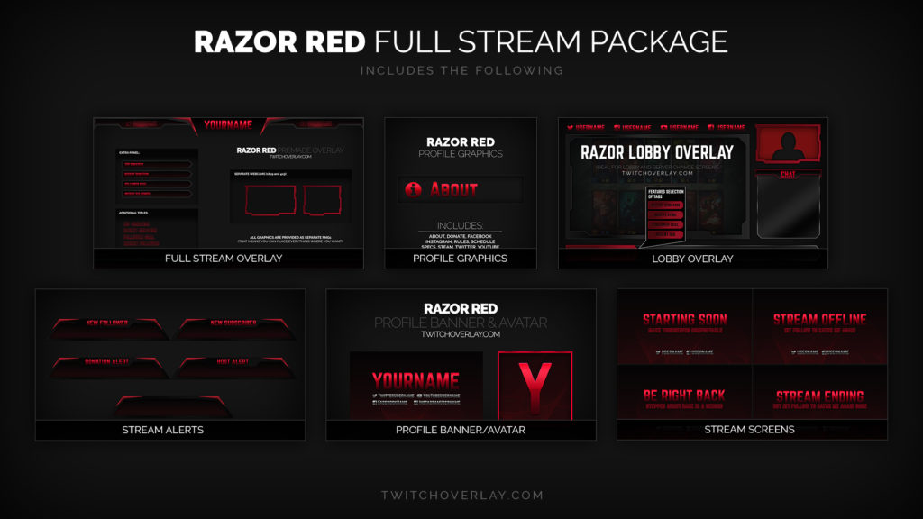 Razor Red – Red Stream Package