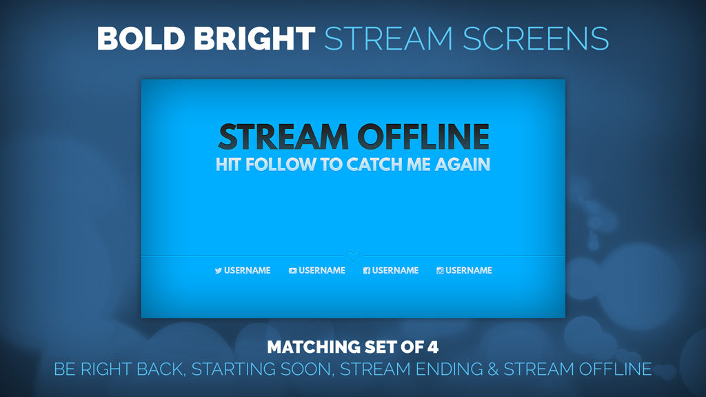 Bold Bright Blue Stream Screens