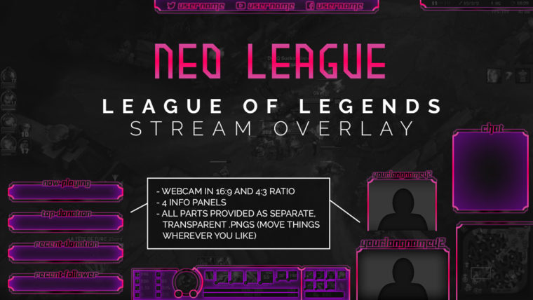 Neo League - League of Legends Stream Overlay