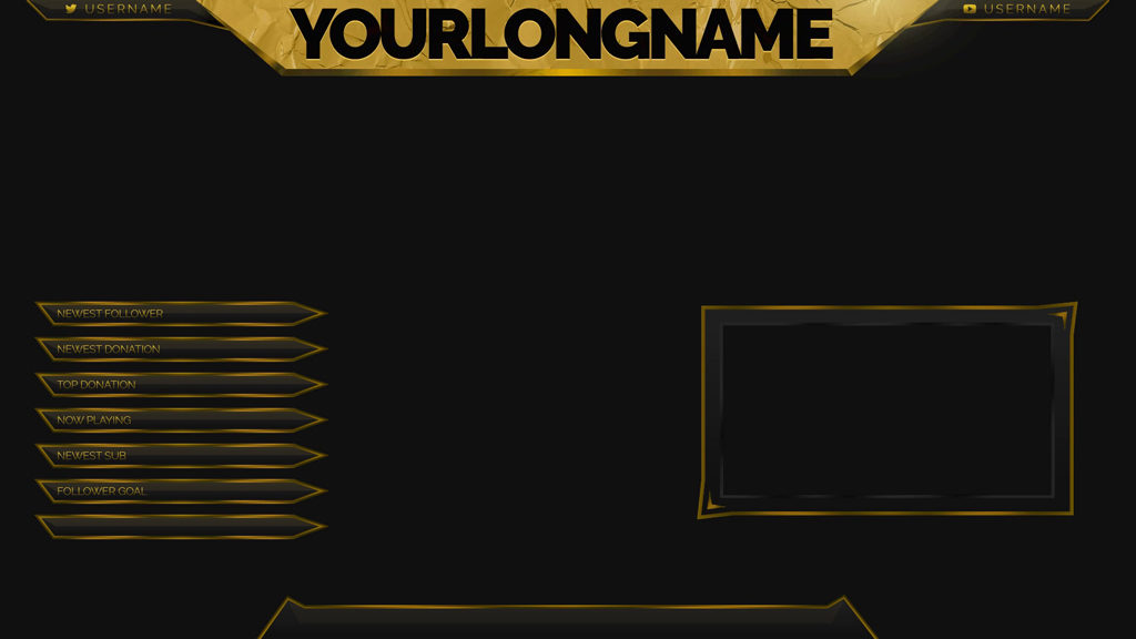 Gold Leaf – Animated Stream Overlay