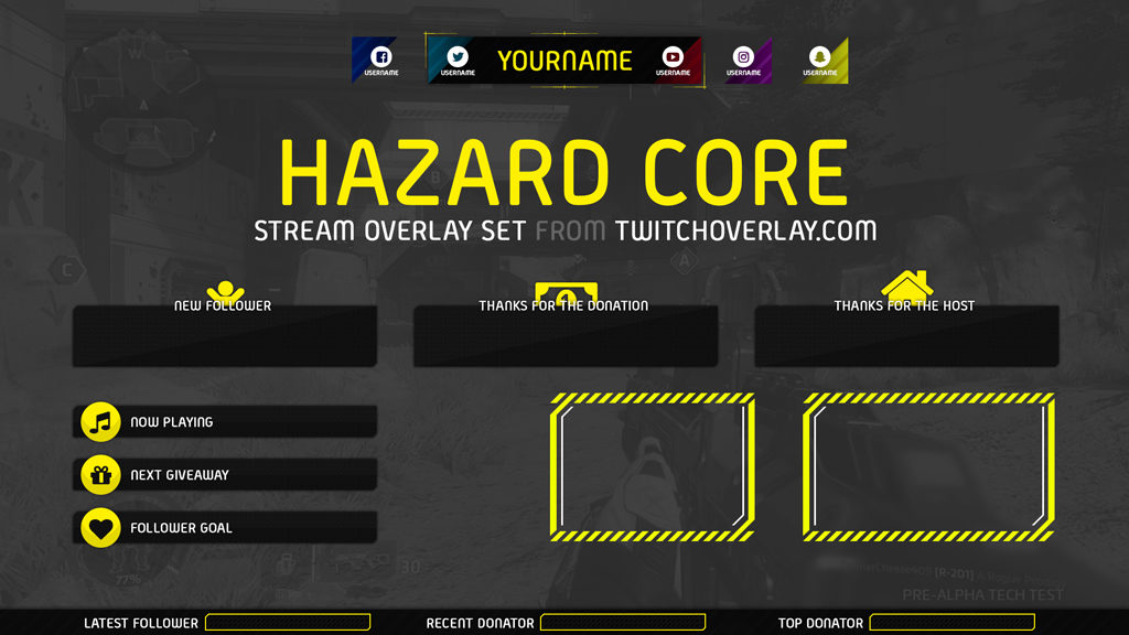 Hazard Core - Yellow Stream Overlay