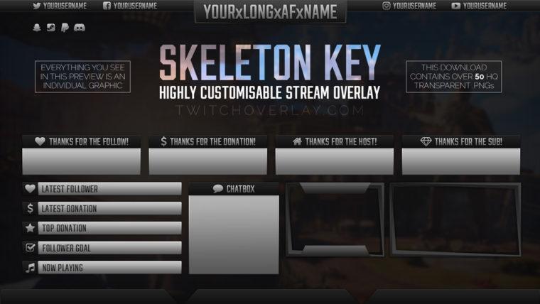 Skeleton Key Stream Overlay