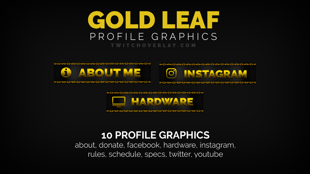 gold profile graphics - Twitch Overlay
