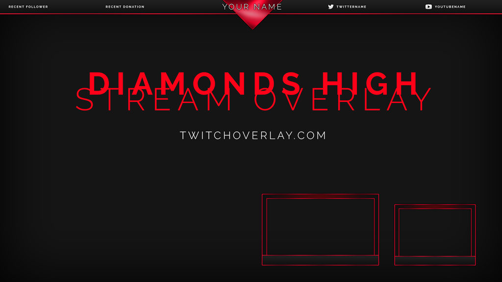 Diamonds High – Red Angular Stream Overlay