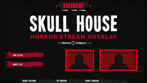 Skull House – Horror Stream Overlay