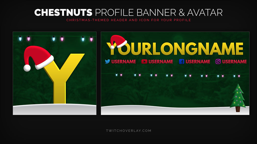 Chestnuts – Christmas Profile Banner & Avatar