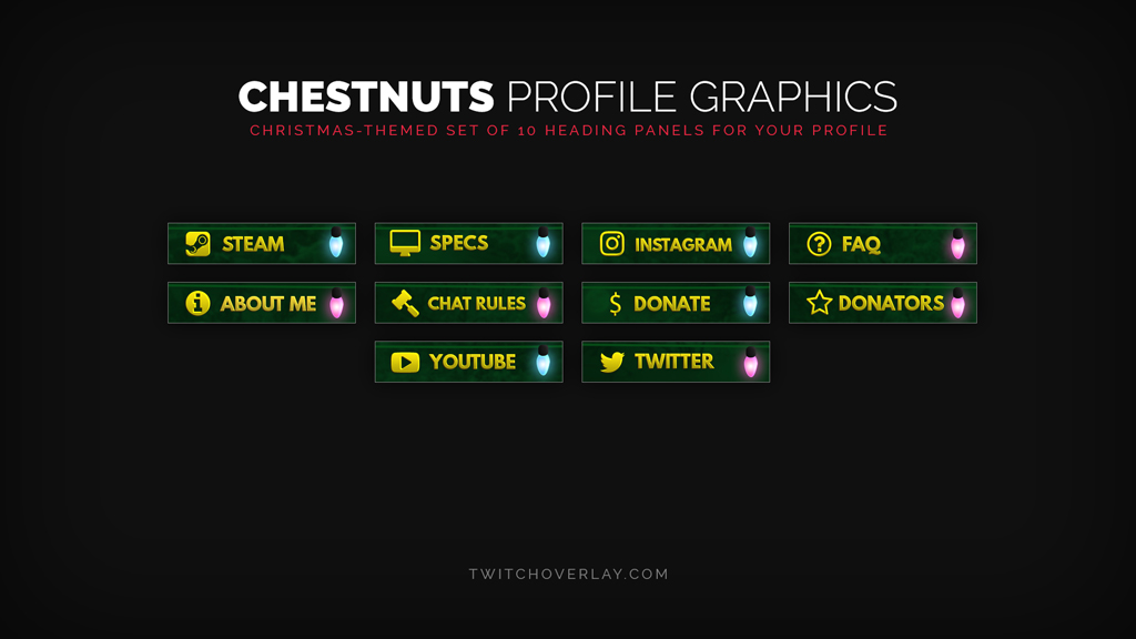 Christmas profile graphics - Twitch Overlay
