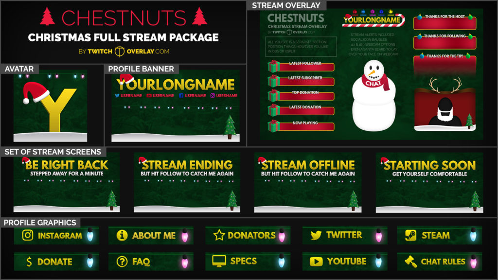 Chestnuts – Christmas Stream Package