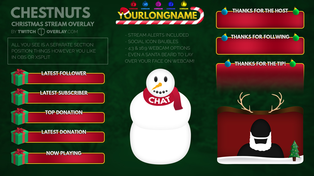 Christmas Stream Overlay