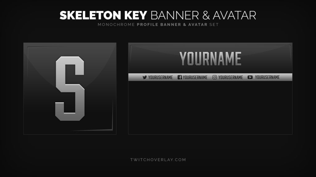 Skeleton Key – Professional Profile Banner & Avatar