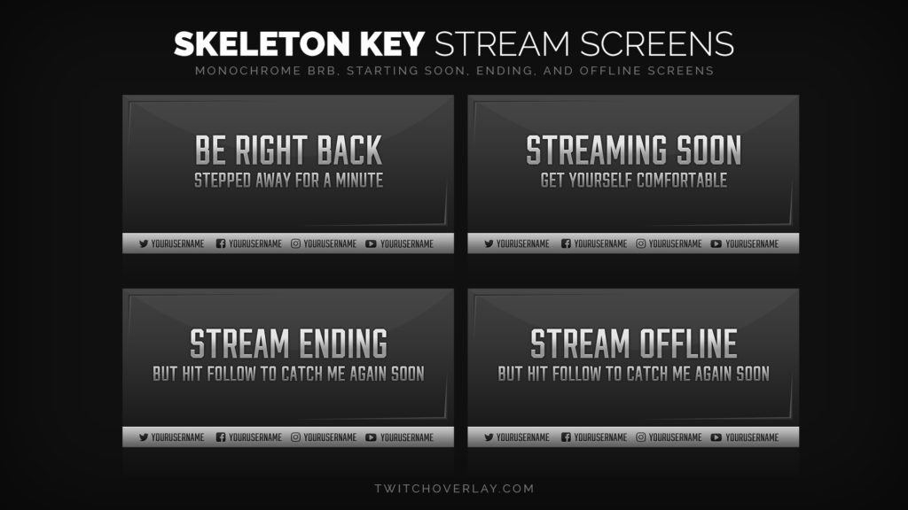 Skeleton Key – Professional Stream Screens