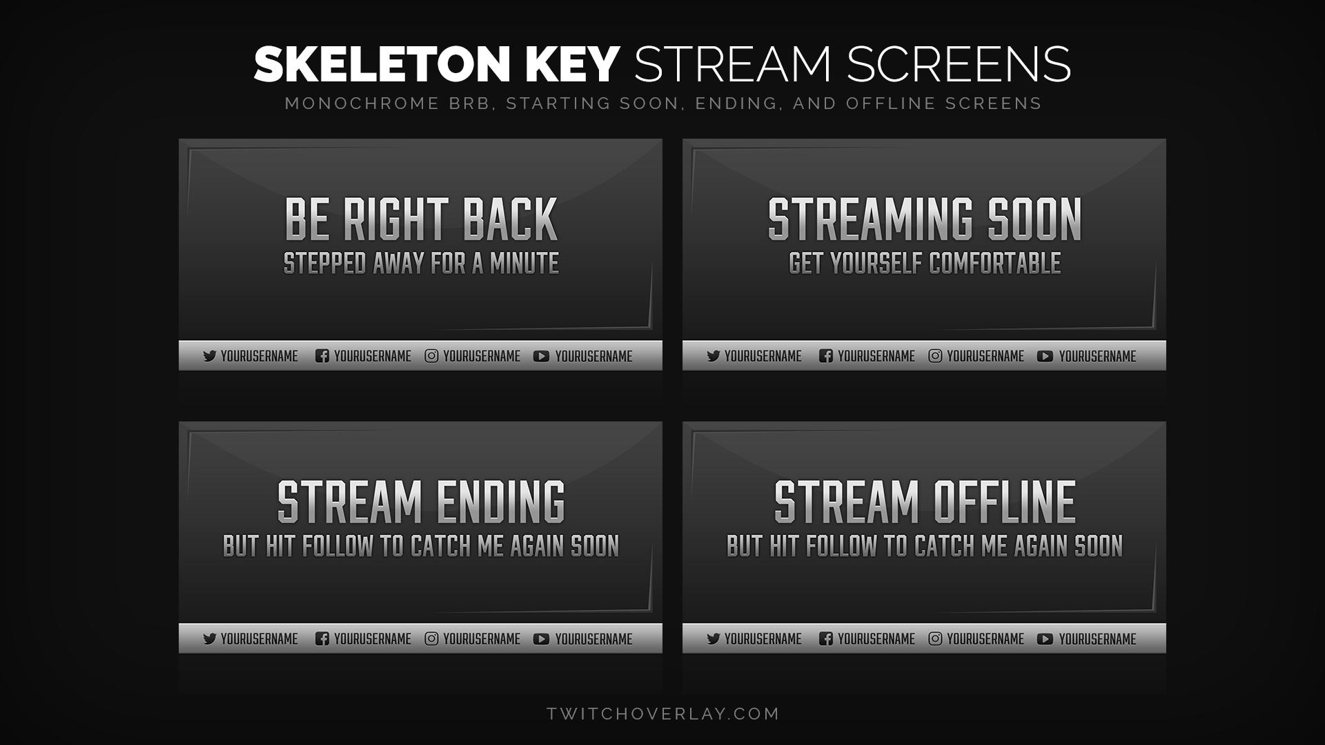 professional stream screens - Twitch Overlay