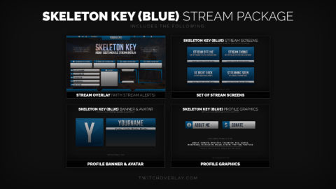 Skeleton Key Blue – Metal Blue Stream Package