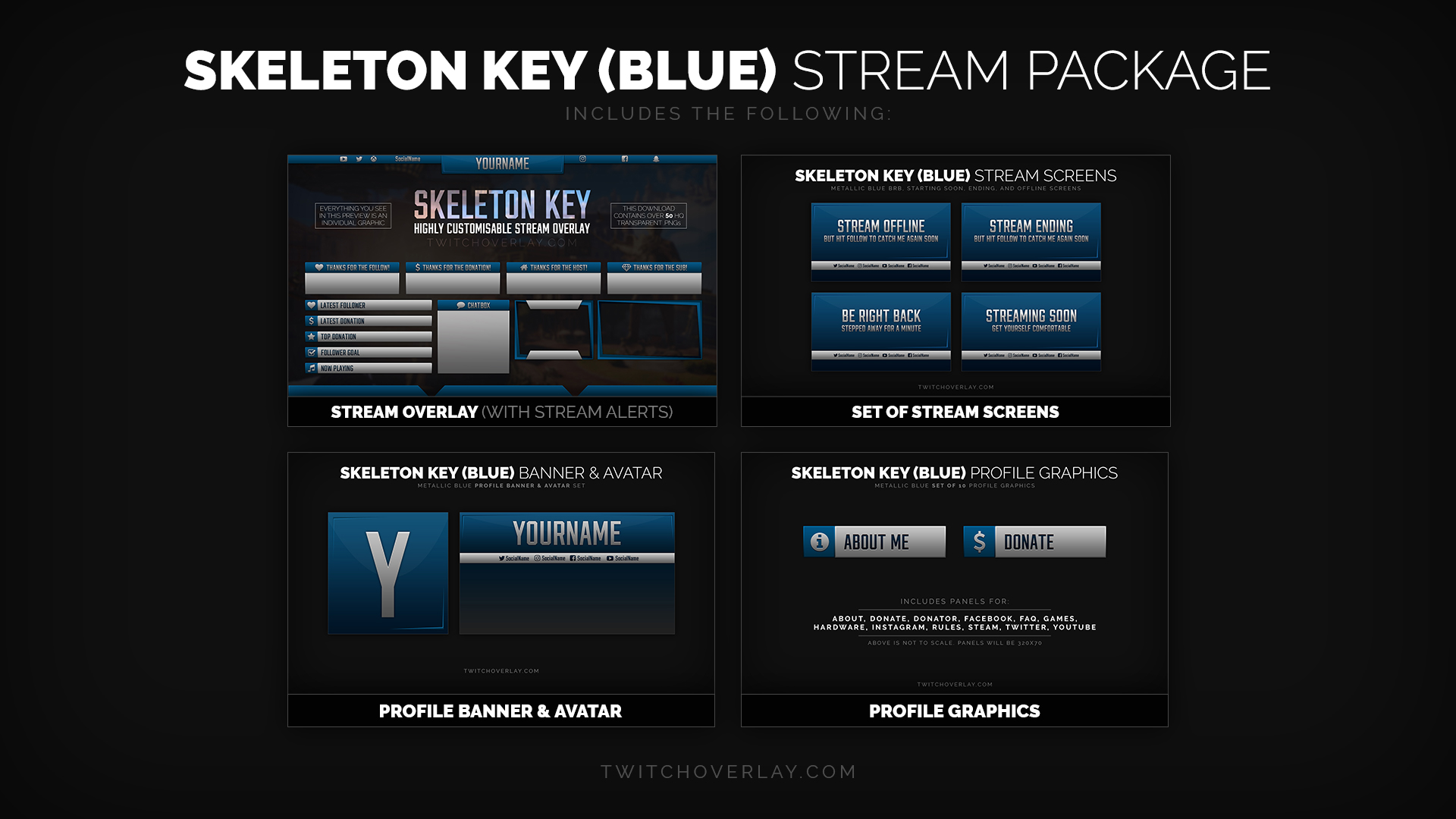 Metal Blue Stream Package