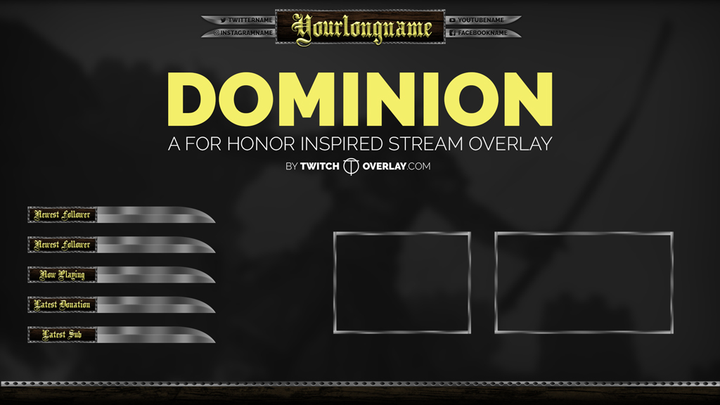 Dominion - For Honor Stream Overlay