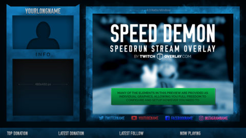 Speed Demon – Speedrun Stream Overlay