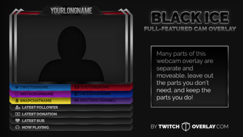 Dark Webcam Overlay