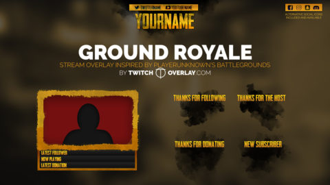 Ground Royale – Playerunknowns Battlegrounds Stream Overlay