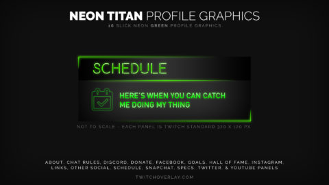 Neon Titan – Green Profile Graphics