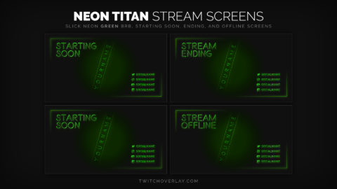 neon green stream screens