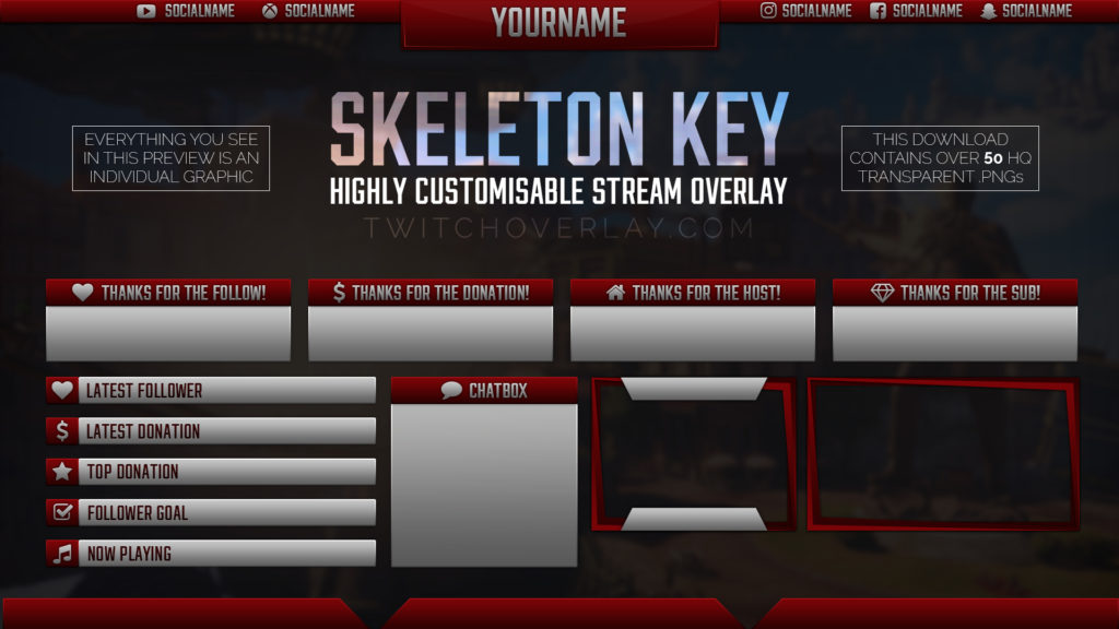 Skeleton Key Red – Metal Red Stream Overlay