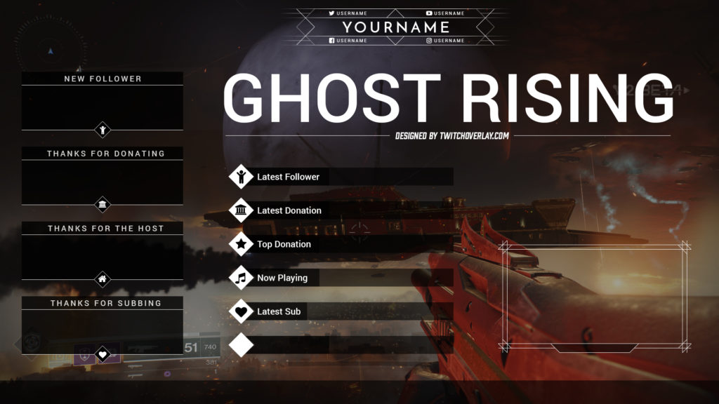 Ghost Rising Free Destiny 2 Stream Overlay