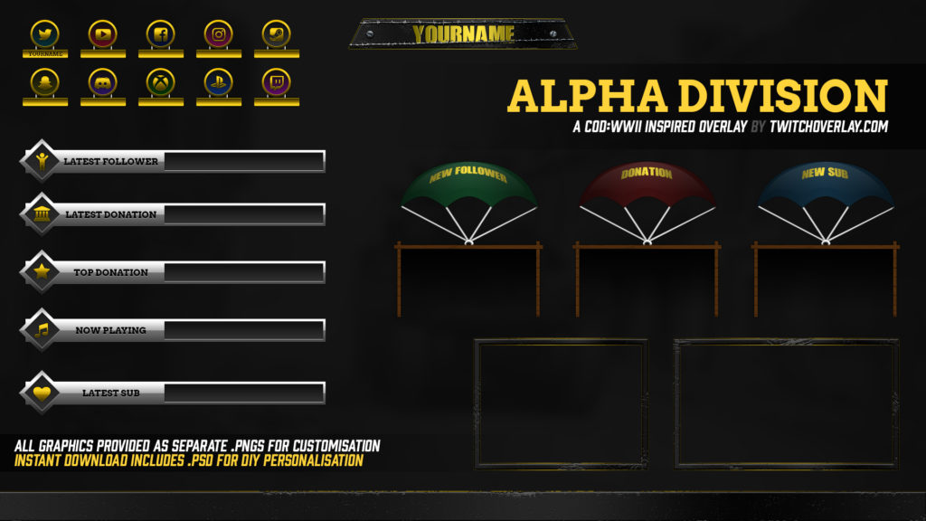 Alpha Division – Call of Duty: WWII Overlay