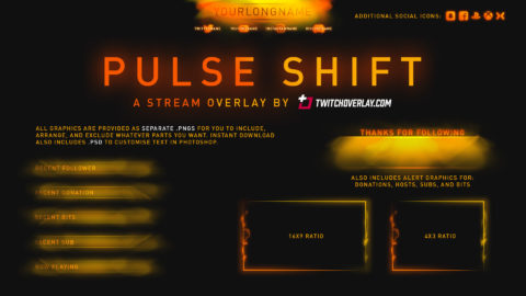 Pulse Shift – Orange Overlay