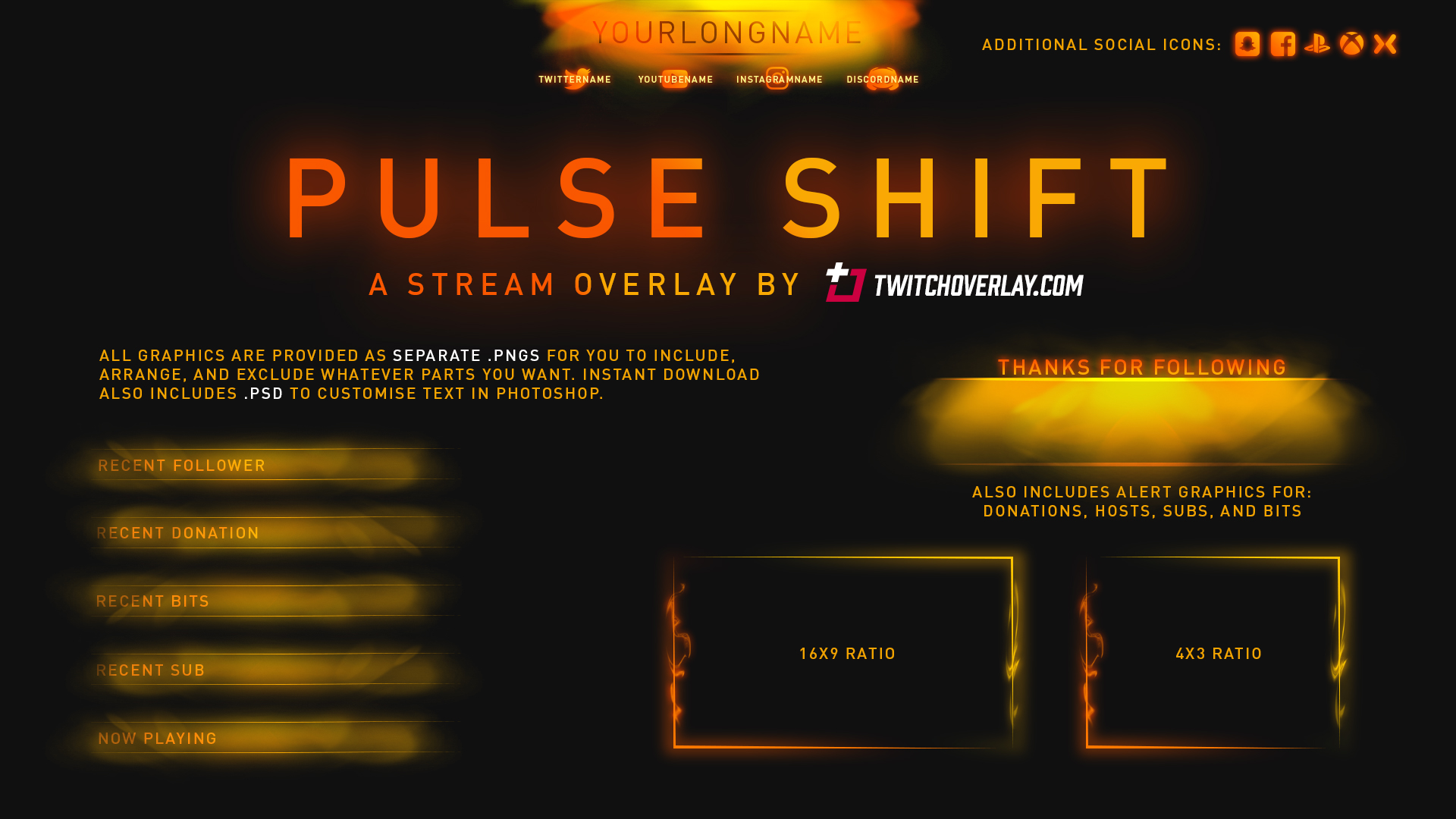 Pulse Shift - Orange Overlay