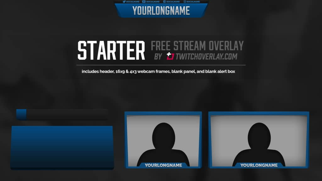 free blue overlay - Twitch Overlay