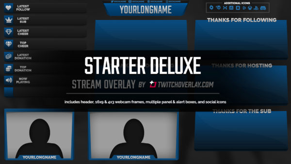 blue overlay - Twitch Overlay