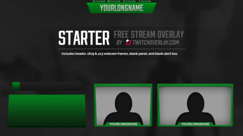 free green overlay - Twitch Overlay