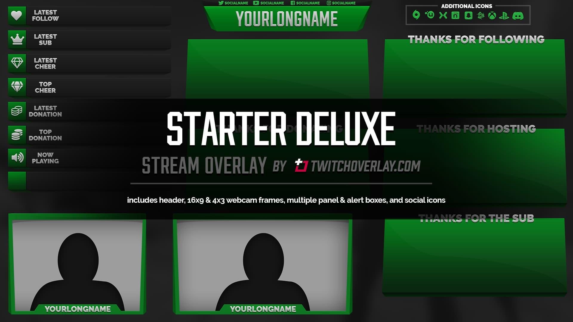 Starter Deluxe - Green Overlay