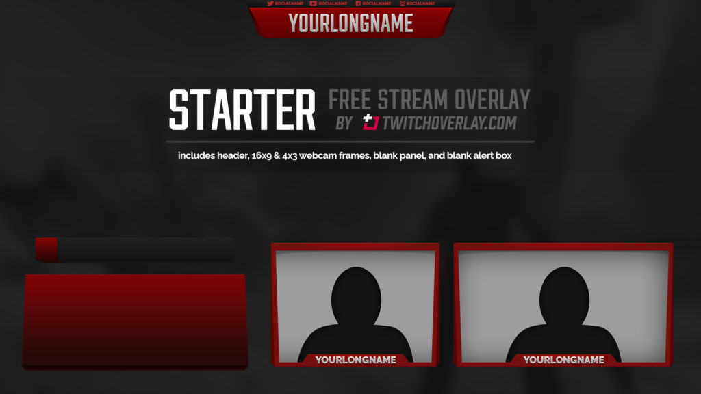 free red overlay - Twitch Overlay