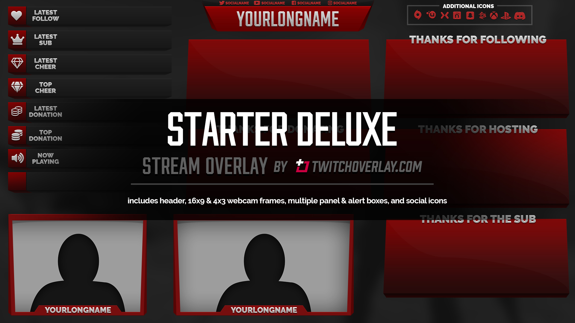 red overlay - Twitch Overlay