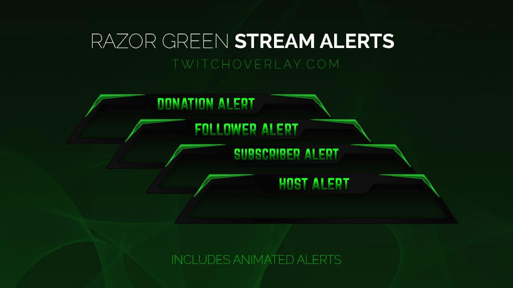 green stream alerts - Twitch Overlay
