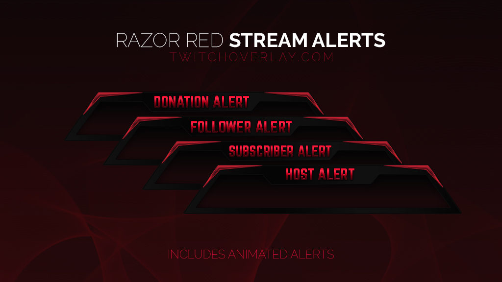 Red Stream Alerts - Twitch Overlay