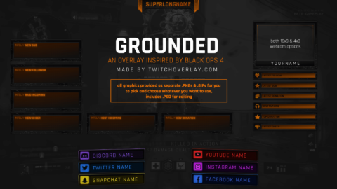 Grounded – Black Ops 4 Twitch Overlay
