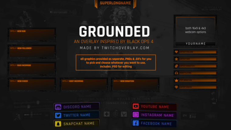 Black Ops 4 Twitch Overlay