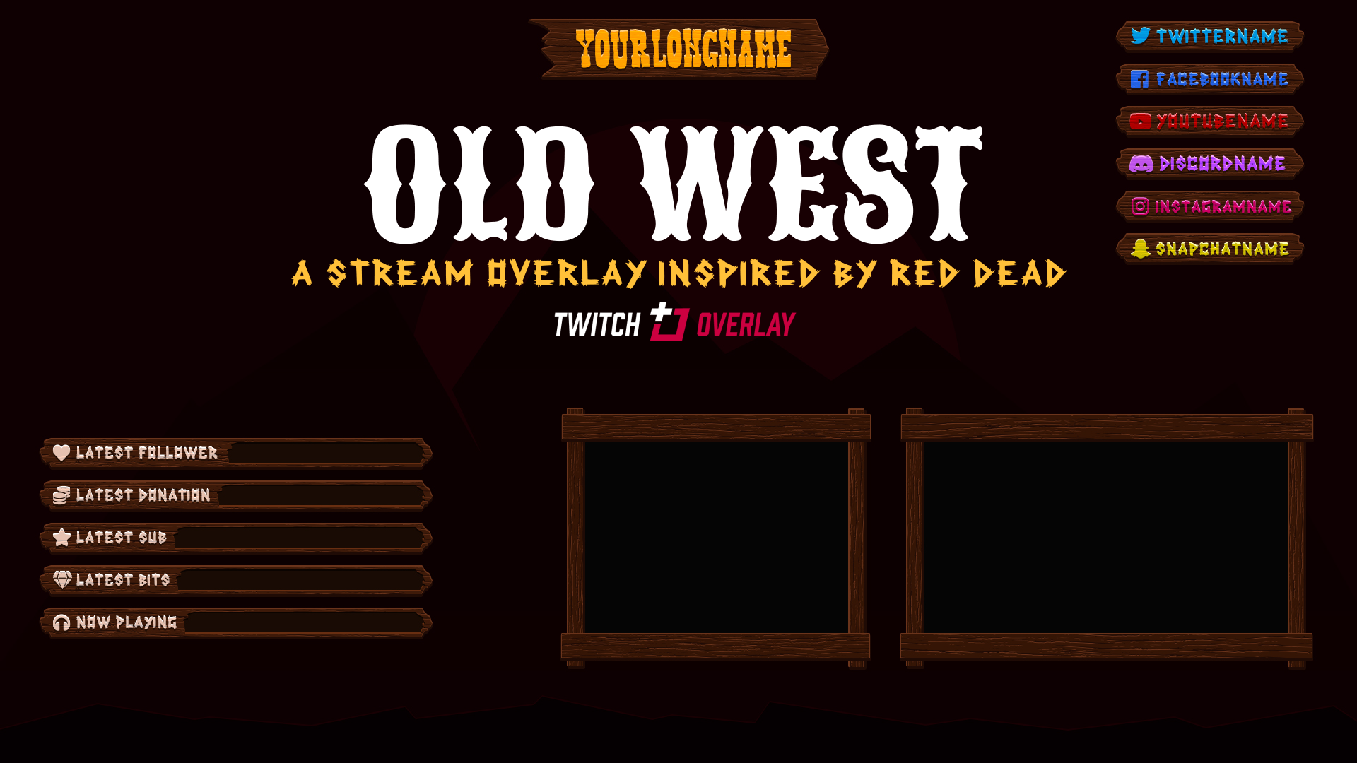 red dead redemption 2 overlay - Twitch Overlay