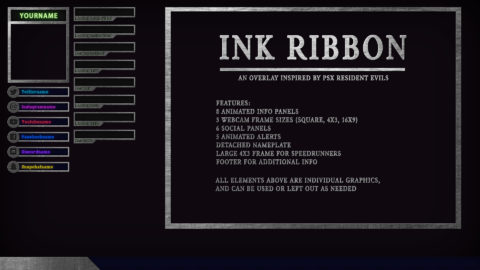 Ink Ribbon – Resident Evil Twitch Overlay