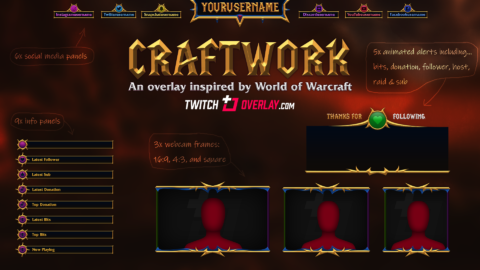 World of Warcraft Stream Overlay